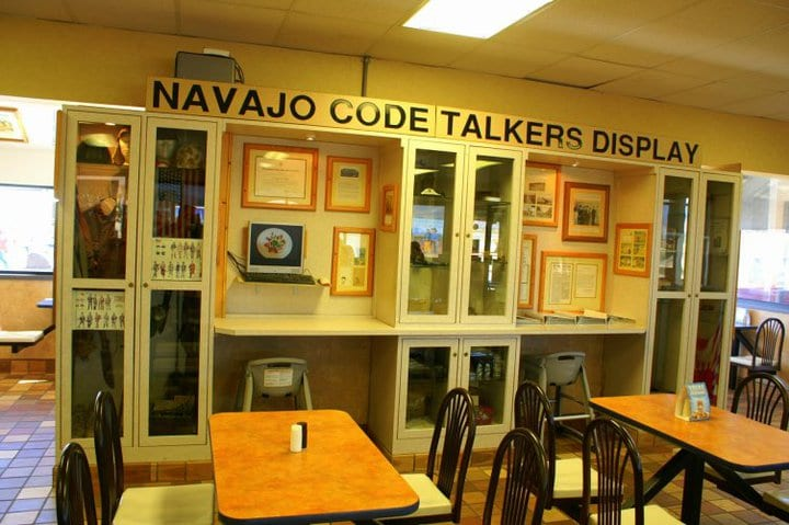 Navajo Code Talker Display in Burger King in Kayenta, Arizona
