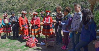Youth Ambassadors visiting local community in Peru.