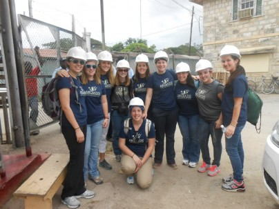 Amizade Volunteers from Plymouth State in Jamaica