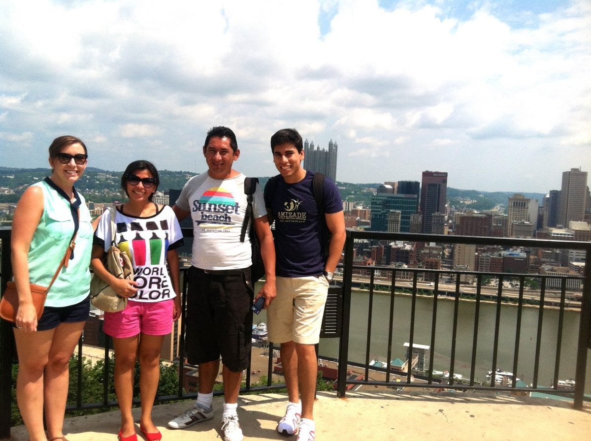 Amizade participants from Brazil tour Pittsburgh