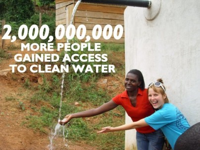 More people gained access to clean water