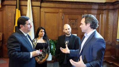 Meeting Mayor Peduto