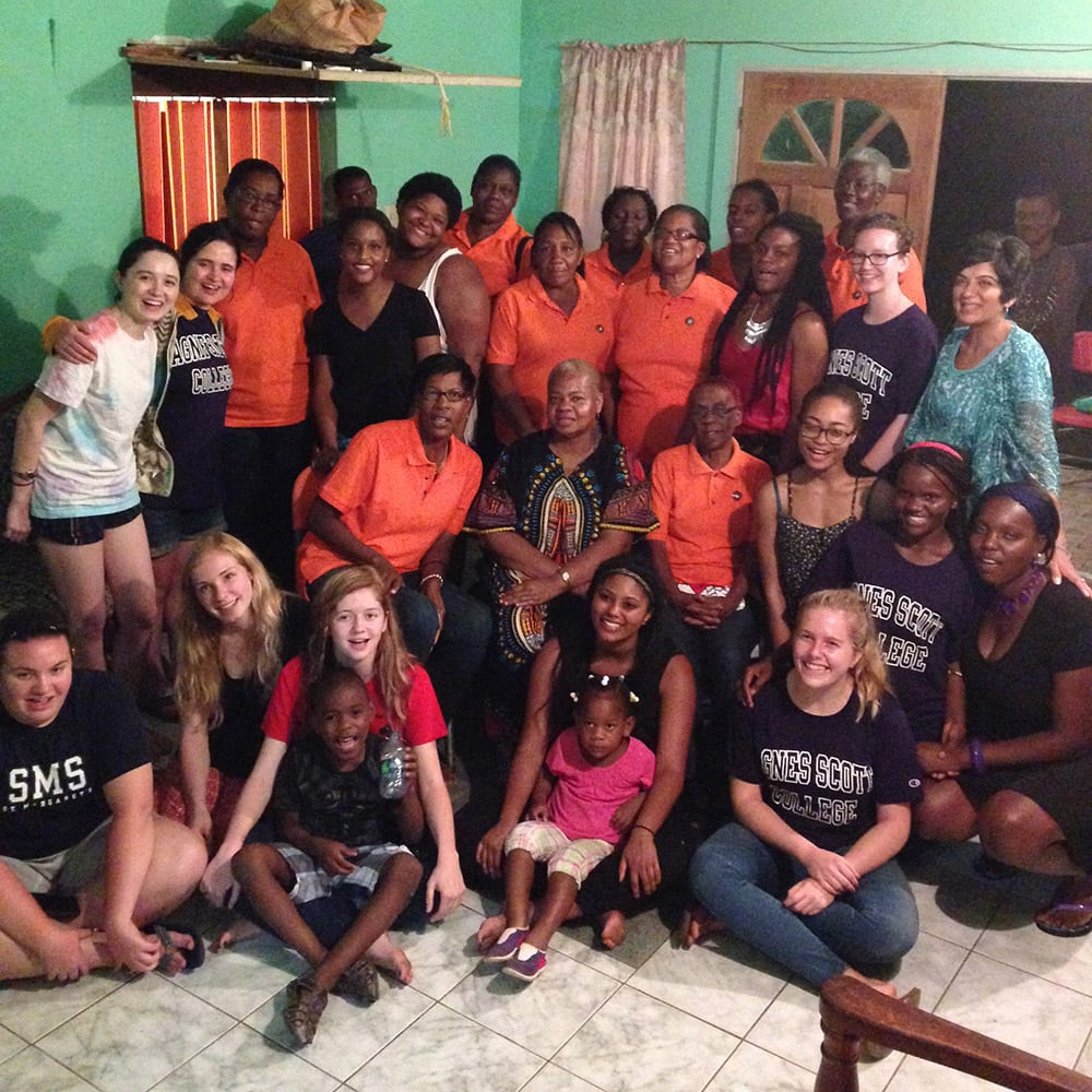 An Amizade-led group from Agnes Scott College with our Trinidad partners