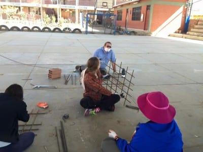 Cutting, bending, and wiring rebar