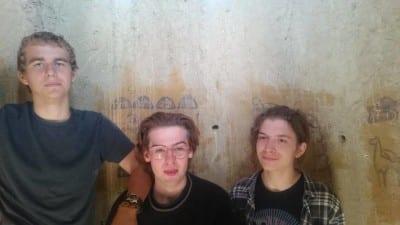 Devon, Sam, and Zach inside the silo
