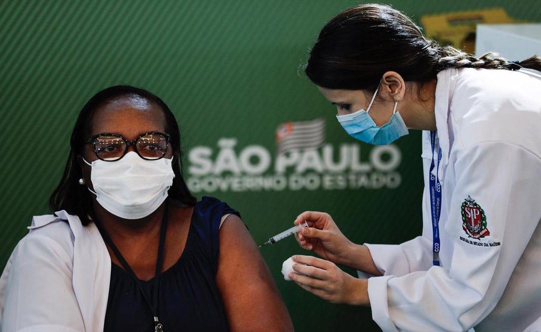 Vaccination starts in Brazil. PC: Marcelo Chello